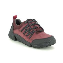 Clarks Walking Shoes - Wine nubuck - 513994D TRI PATH LO GORE TEX