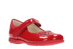 Clarks Girls Shoes - Red patent - 2363/56F TRIXI WISH INF