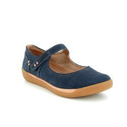 Clarks Mary Jane Shoes - Navy - 3400/34D UN HAVEN STRAP