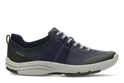 Clarks Comfort Lacing Shoes - Navy multi - 2609/34D WAVE ANDES