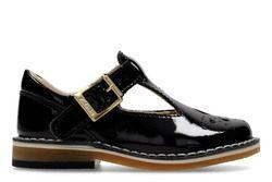 Clarks 1st Shoes & Prewalkers - Black patent - 3210/76F YARN WEAVE