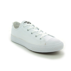 Converse Girls Trainers - White - 335891C Chuck Taylor All Star OX Mono Leather
