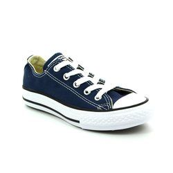Converse Girls Trainers - Navy - 3J237C/410 Youths Chuck Taylor All Star OX Classic