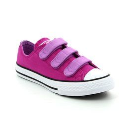 Converse Girls Trainers - Purple - 656016C Chuck Taylor All Star 3V OX Velcro