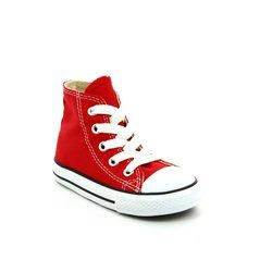 Converse Boys Trainers - Red - 7J232C/600 Infants Chuck Taylor All Star Hi Tops