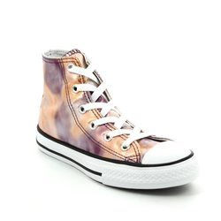 Converse Girls Trainers - Pink - 357619C Chuck Taylor All Star Hi Top Junior