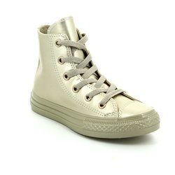Converse Girls Trainers - Gold - 357631C Chuck Taylor Junior ALL STAR HI TOP
