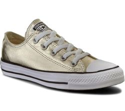 Converse Trainers & Canvas - Gold - 153181C/752 Chuck Taylor All Star OX Light Gold