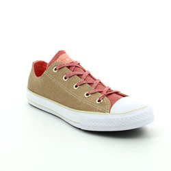 Converse Girls Trainers - Gold - 658111C Chuck Taylor ALL STAR OX Youth
