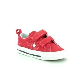 Converse Boys Trainers - Red - 758493C/600 ONESTAR VEL IN