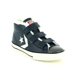 Converse Boys Trainers - Navy - 658154C/449 STAR PLAYER EV 3V Mid Velcro