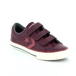 Converse Boys Trainers - Dark Red - 658157C/626 STAR PLAYER EV 3V OX Velcro
