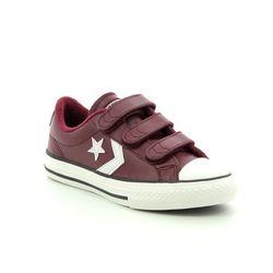 Converse Boys Trainers - Burgundy - 661937C STAR PLAYER VELCRO