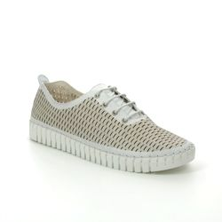 Creator Comfort Lacing Shoes - White Leather - IB18559/66 SKAL