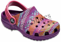 Crocs Girls Sandals - Pink multi - 204816/57H CLASSIC GRAPHI