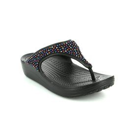 Crocs Sandals - Black multi - 204181/0C4 SLOANE FLIP