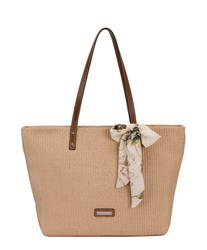 David Jones Handbags - Beige-tan - 5764/25 5764-2  HESSIAN