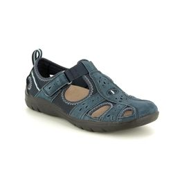 Earth Spirit Closed Toe Sandals - Navy - 30201/70 CLEVELAND 91
