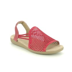 Earth Spirit Comfortable Sandals - Red suede - 30601/80 LONGBEACH