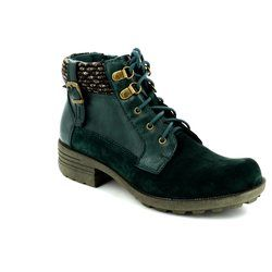 Earth Spirit Boots - Ankle - Green - 22114/90 MOBILE