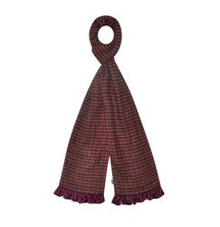 Earth Squared Bags & Leathergoods - Wine - 1602/80 TWEED SCARF