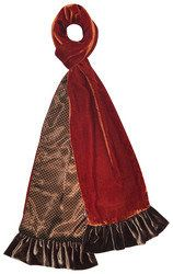 Earth Squared Miscellaneous - Brown multi - 1702/17 VELVET   SCARF