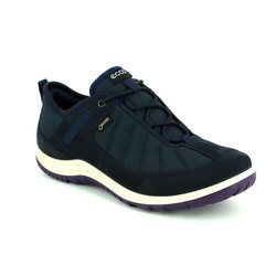 ECCO Comfort Lacing Shoes - Navy - 838543/50320 ASPINA GORE-TEX