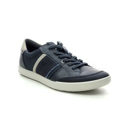 ECCO Trainers - Navy Leather - 536234/50881 COLLIN 2.0