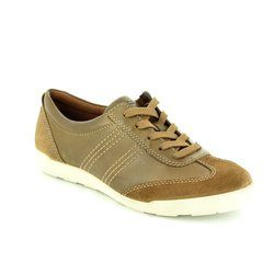 ECCO Comfort Lacing Shoes - Tan - 214603/58168 CRISP  62