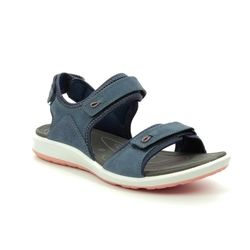 ECCO Walking Sandals - Navy Leather - 821863/51353 CRUISE II STRAP