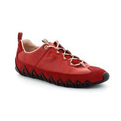 ECCO Comfort Lacing Shoes - Red - 235623/55183 DAYLA