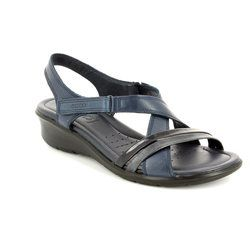 ECCO Walking Sandals - Navy patent - 216513/51769 FELISAN