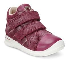 ECCO Girls 1st Shoes & Prewalkers - Wine multi - 754031/59223 FIRST CAP