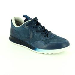 ECCO Comfort Lacing Shoes - Navy - 283543/50595 GENNA