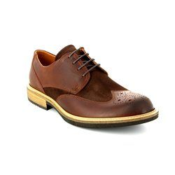 ECCO Brogues - Dark Tan - 512014/50255 KENTON