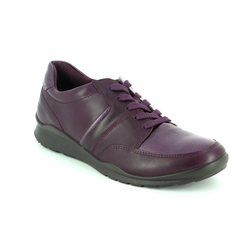 ECCO Comfort Lacing Shoes - Aubergine - 215143/59968 MOBILE 62