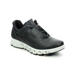 ECCO Walking Shoes - Black leather - 880123/01001 OMNI LACE GORE