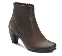 ECCO Boots - Ankle - Brown nubuck - 233563/2072 SILVER