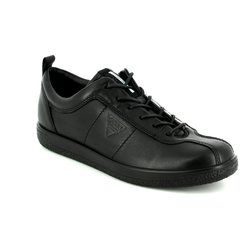 ECCO Comfort Lacing Shoes - Black - 400503/01001 SOFT 1 LADIES