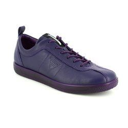 ECCO Comfort Lacing Shoes - Purple - 400503/01284 SOFT 1 LADIES