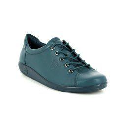 ECCO Comfort Lacing Shoes - Petrol blue - 206503/01315 SOFT 2.0