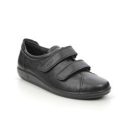 ECCO Comfort Lacing Shoes - Black - 206513/56723 Soft 2.0