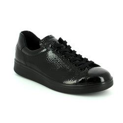ECCO Comfort Lacing Shoes - Black patent - 218033/01001 SOFT 4