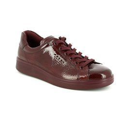 ECCO Comfort Lacing Shoes - Wine patent - 218033/01070 SOFT 4
