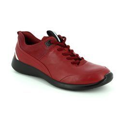 ECCO Comfort Lacing Shoes - Red - 283113/53155 SOFT 5