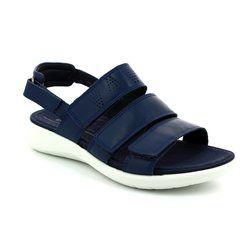 ECCO Walking Sandals - Navy - 218523/01048 SOFT 5 SANDAL