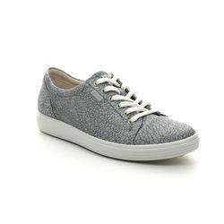 ECCO Comfort Lacing Shoes - Grey Nubuck - 430003/51411 SOFT 7 LACE