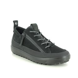 ECCO Walking Shoes - Black nubuck - 450363/02001 SOFT 7 LO GTX