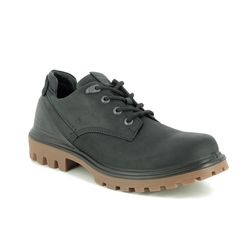 ECCO Casual Shoes - Black leather - 460364/51052 TRED TRAY TEX