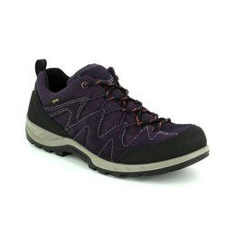 ECCO Walking Shoes - Black-purple combi - YURA GORE 72 840663/56343